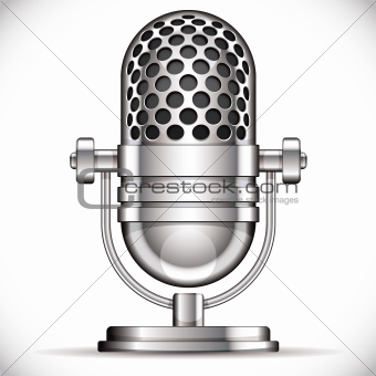 Retro microphone illustration.