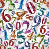 Numbers seamless pattern.