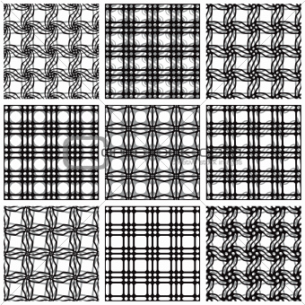 Netting geometric seamless patterns.