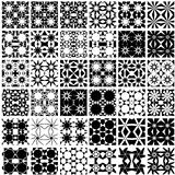 Set of 36 monochrome seamless patterns.