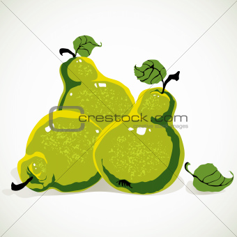 Green-yellow pears.