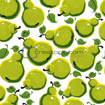 Pears seamless pattern.