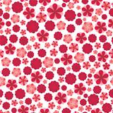 Pink flowers seamless pattern.