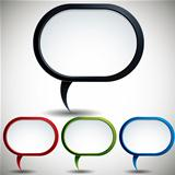 Abstract modern style speech bubble.