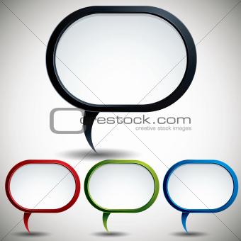 Abstract modern style speech bubble.