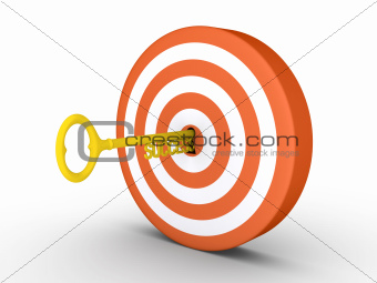 Target with success-key in keyhole