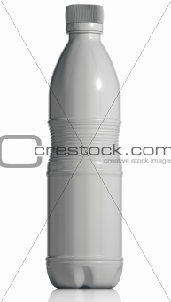 White opaque plastic bottle.