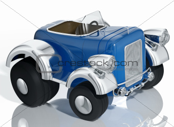 Blue car hot rod.