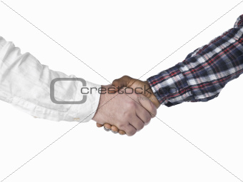 business handshake of two businesspeople
