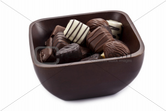 chocolate pieces in bowl