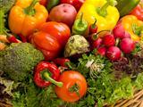 close up of basket of vegetables
