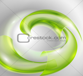 Abstract background with green swirl