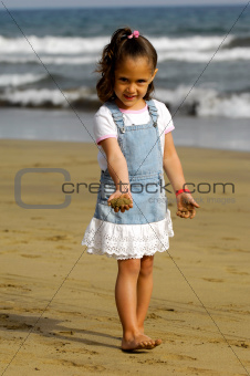 Child and beach