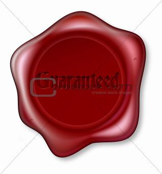 Guaranteed red wax seal