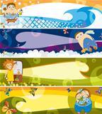 children banner set