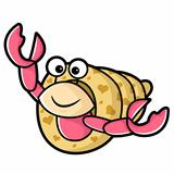 Happy Hermit Crab Characters