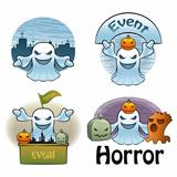 Halloween Day Ghost Characters