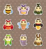 cartoon insect bug stickers