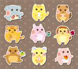animal tea time stickers