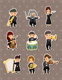 orchestra music player stickers