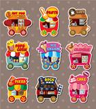 Cartoon market store stickers