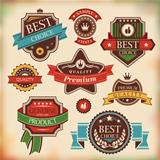 vintage labels and badges