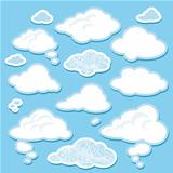 vector set of cartoon clouds
