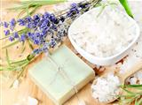 Handmade Soap with Salt and Lavender