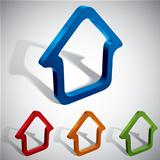 3d vector home icons.