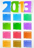 Calendar 2013 colorful torn paper