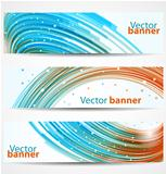Abstract banners or headers