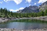 Alpine lake panorama