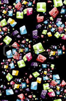 Smart phone apps pattern