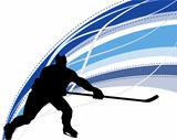 Hockey player silhouette