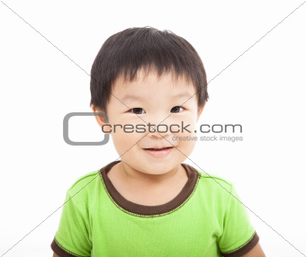 smiling asian kid isolated on white