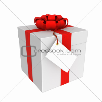 The gift box isolated on white