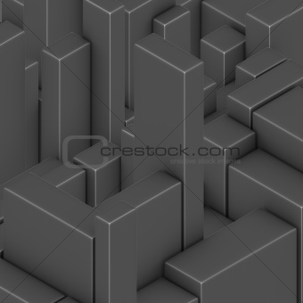 3d chrome silver black gray abstract backdrop