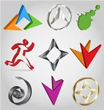 Vector 3D logo collection