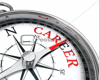 career the way indicated by compass