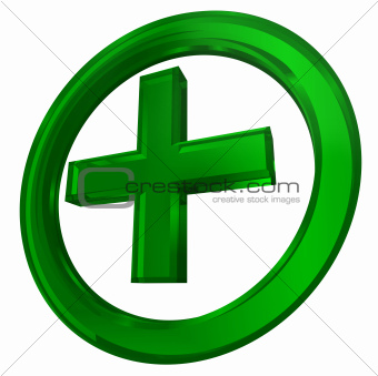 green cross in circle health symbol