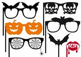 halloween booth props, vector 