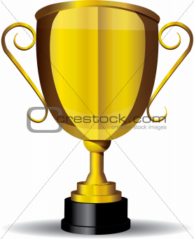 Gold Cup,Trophy,Vector