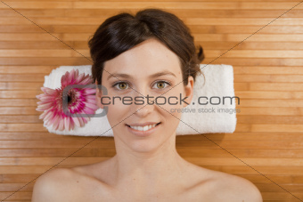 Beautiful girl on a spa