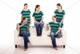 Five twins sisters