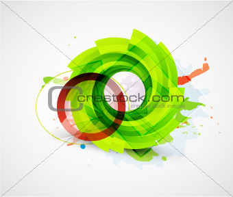 Abstract floral vector circle background