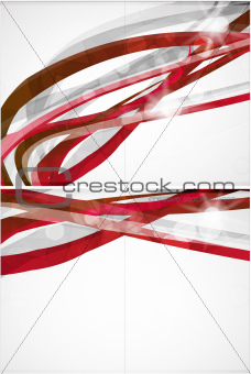 Abstract red lines vector background