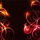 Vector abstract glowing swirl background