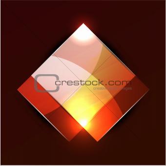 Glowing rectangular shapes on black
