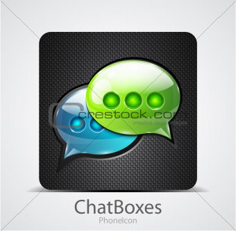 Vector chat boxes phone icon