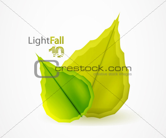 Fall abstract flying leaves background